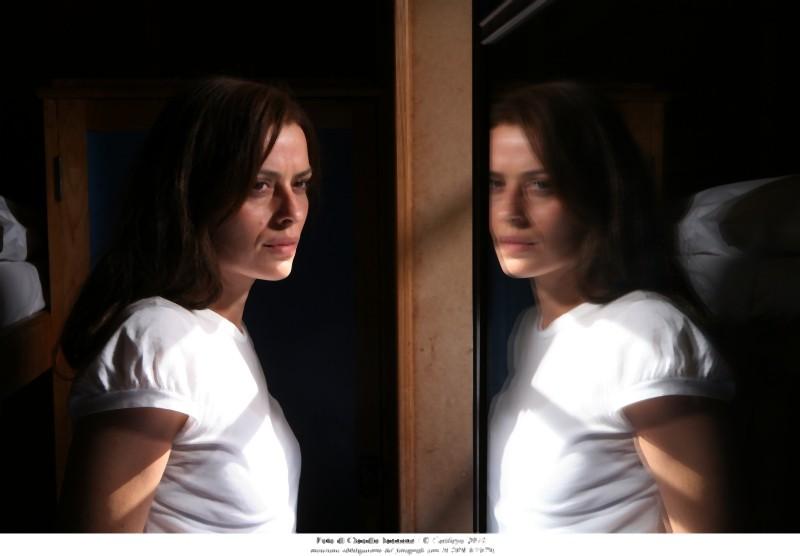 Claudia Pandolfi in una suggestiva inquadratura del film Quando la notte
