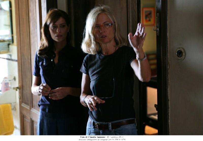 Cristina Comencini e Claudia Pandolfi sul set di Quando la notte