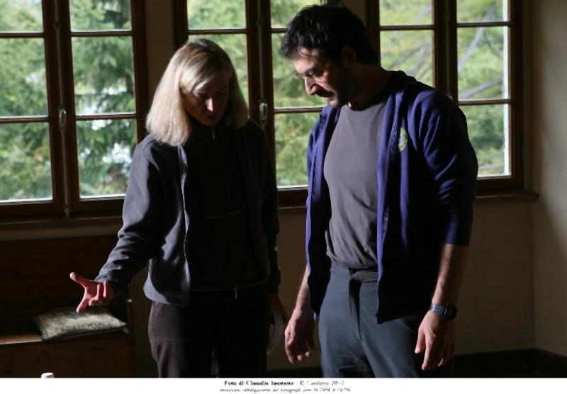 Cristina Comencini e Filippo Timi sul set del film Quando la notte