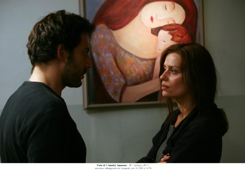 Filippo Timi e Claudia Pandolfi in un'immagine tratta dal film Quando la notte: