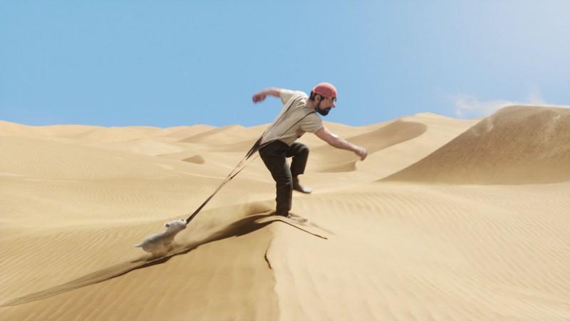 Il protagonista Tin tin in una scena del film in motion capture Le Avventure di Tintin: il Segreto dell'Unicorno