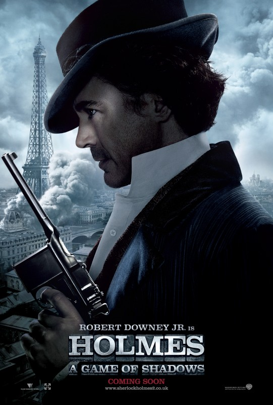 Sherlock Holmes: Gioco di ombre: nuovo Character poster per Robert Downey jr. (Holmes)