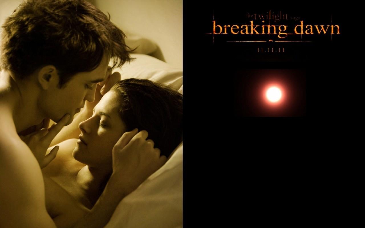 The Twilight Saga: Breaking Dawn - Parte 1, un bellissimo wallpaper con i due protagonisti del film