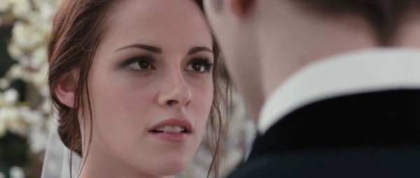 The Twilight Saga: Breaking Dawn - Parte I, Kristen Stewart nella scena del 'si'