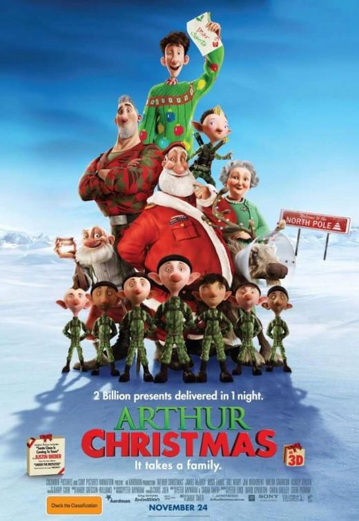 Arthur Christmas: poster australiano