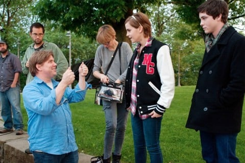 Emma Watson e Logan Lerman sul set di The Perks of Being A Wallflower