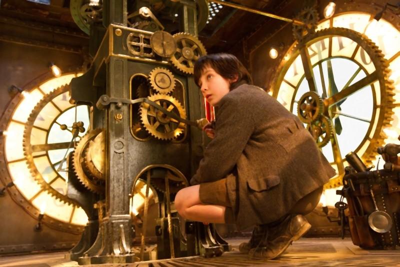 Hugo Cabret 3D: Asa Butterfield in una scena del film di Martin Scorsese
