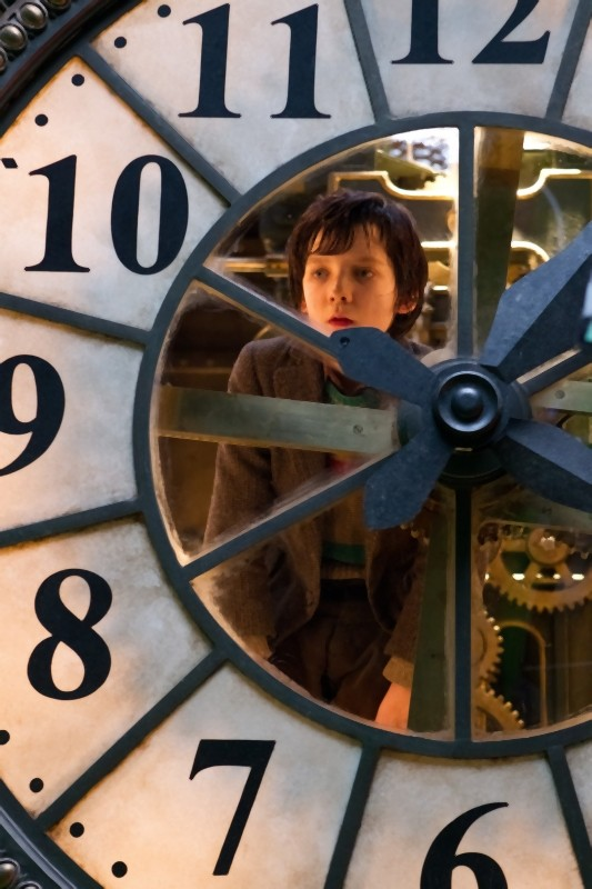 Hugo Cabret 3D: Asa Butterfield in una suggestiva immagine tratta dal film di Martin Scorsese