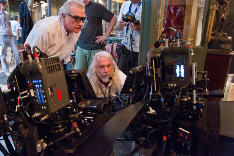 Martin Scorsese sul set di Hugo Cabret 3D