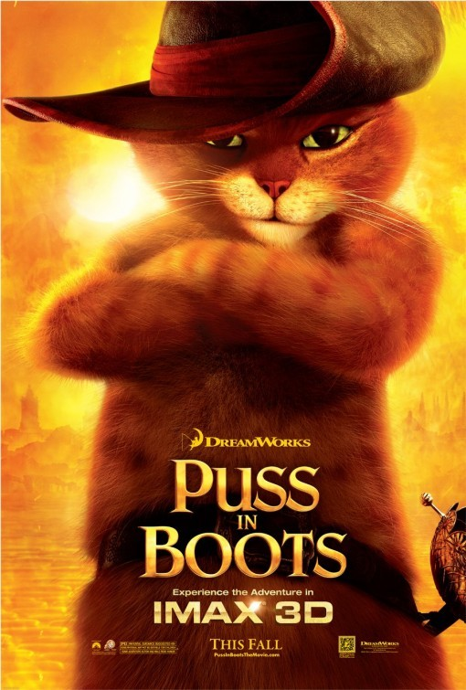 Puss in Boots (Il Gatto con gli Stivali): poster USA versione IMAX
