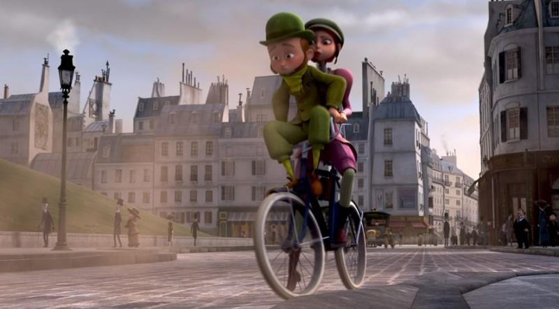 Un monstre à Paris: una romantica sequenza del film