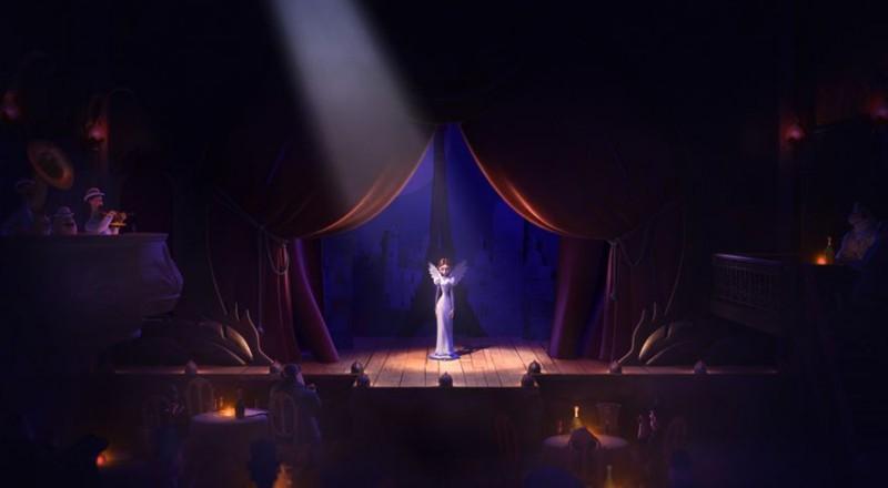 Un monstre à Paris: una sequenza ambientata in un teatro