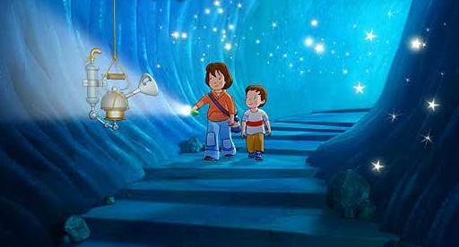 Lauras Stern und die Traummonster: una sognante scena del cartoon