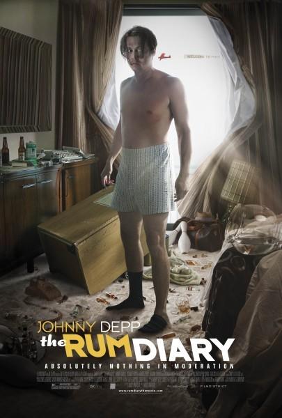 Johnny Depp resta in mutande nella nuova locandina di The Rum Diary