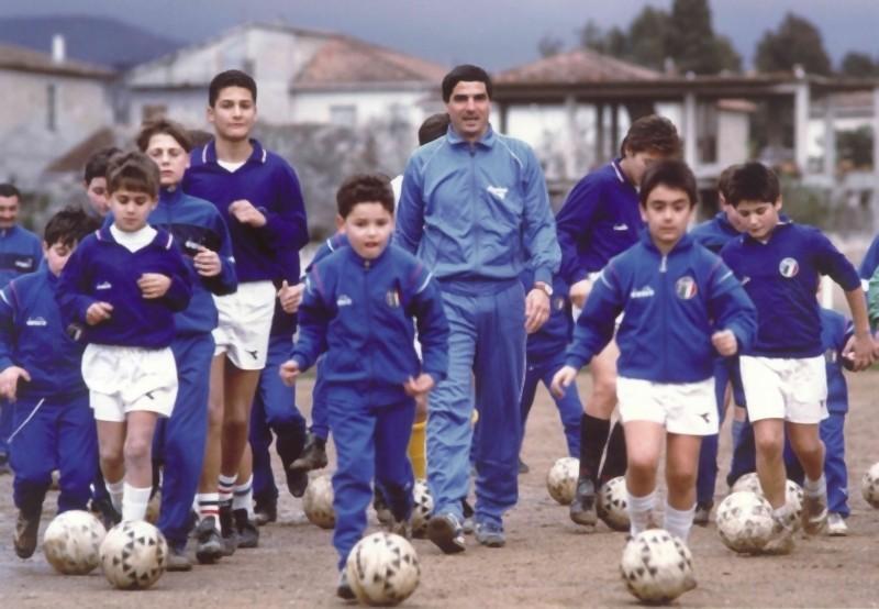 Agostino Di Bartolomei in una scena del documentario 11 metri a lui dedicato, diretto da Francesco Del Grosso