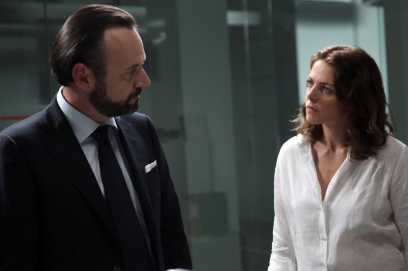Claudia Gerini in una scena de Il mio domani insieme a Paolo Pierobon