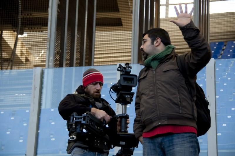 Francesco Del Grosso sul set del documentario 11 metri su Agostino Di Bartolomei