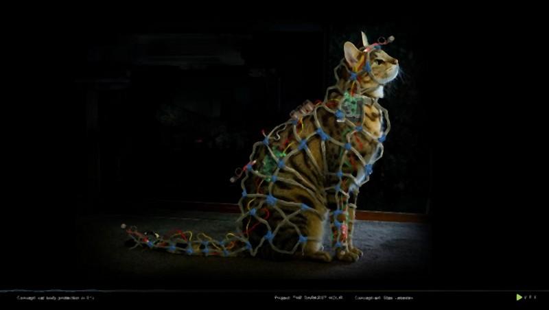 Il concept art del gatto faraday nel thriller fantascientifico L'ora nera