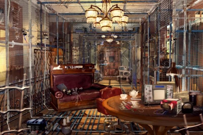 Il concept art della gabbia di Faraday di Sergei nel thriller fantascientifico L'ora nera