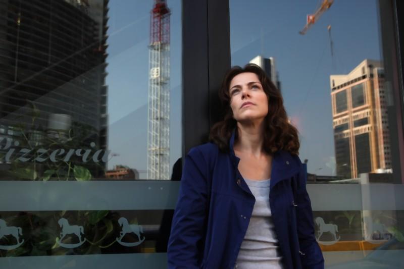 Il mio domani: un'immagine sognante di Claudia Gerini tratta dal film
