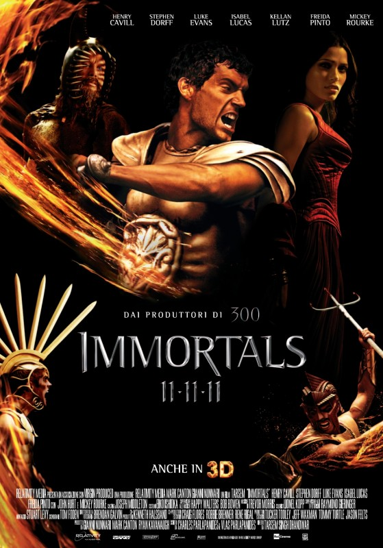 Immortals 3D: locandina italiana