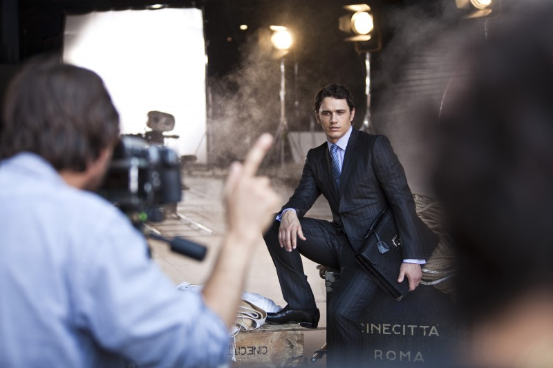 James Franco sul set del servizio fotografico per Gucci 'Made to Measure' nel 2011