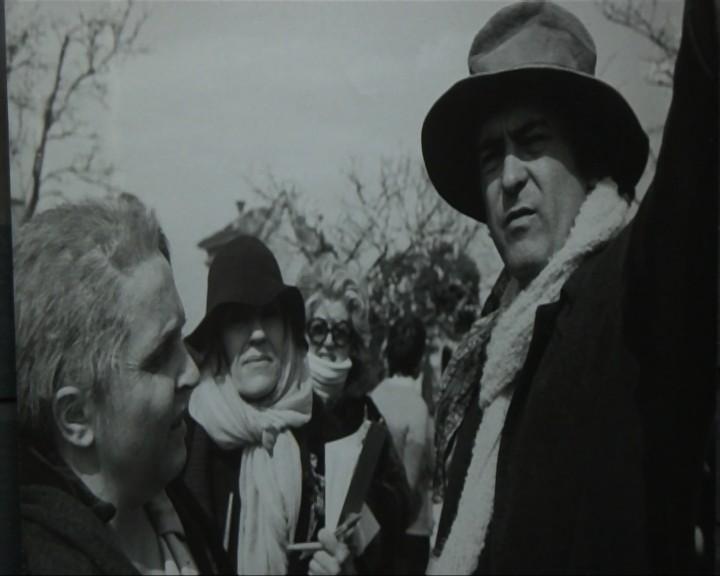 Laura Betti insieme a Bernardo Bertolucci in una scena tratta dal documentario La passione di Laura