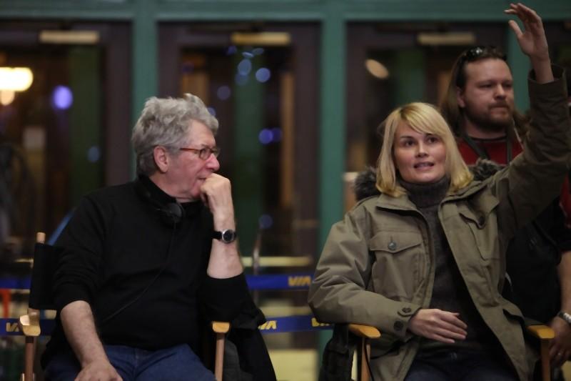 Marina Hands e il regista Claude Miller sul set di Voyez comme ils dansent