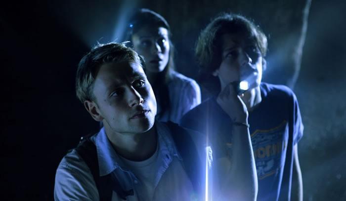 Max Riemelt in una scena di Urban Explorer con Nathalie Kelley e Nick Eversman