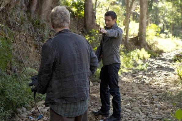 Terra Nova: Jason O'Mara in una scena dell'episodio Bylaw