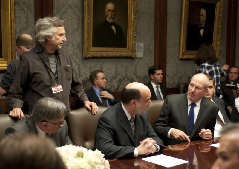 Too big to fail - Il crollo dei giganti: Curtis Hanson, Paul Giamatti e William Hurt sul set del film