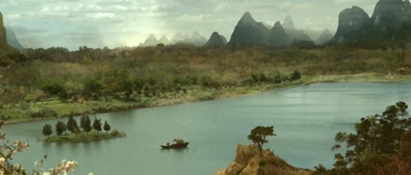 Una suggestiva inquadratura dall'alto tratta dal film Un cuento chino