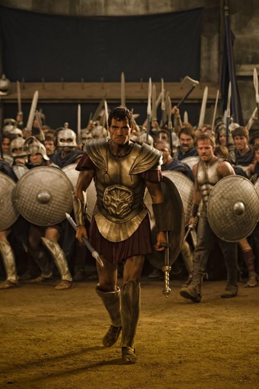 Immortals 3D: Henry Cavill alla guida il suo esercito nei panni di Teseo in scena d'azione del film