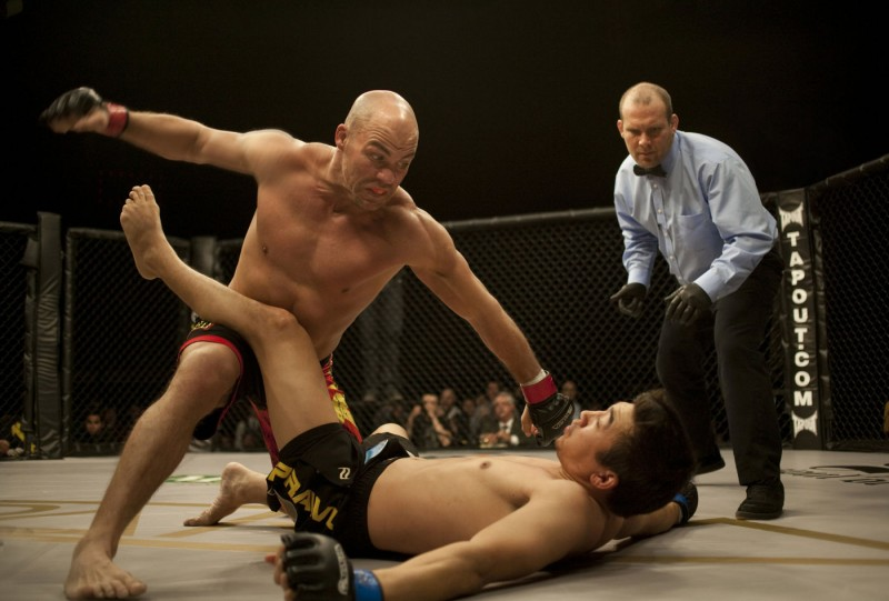 Kurt Angle sul ring del film Warrior