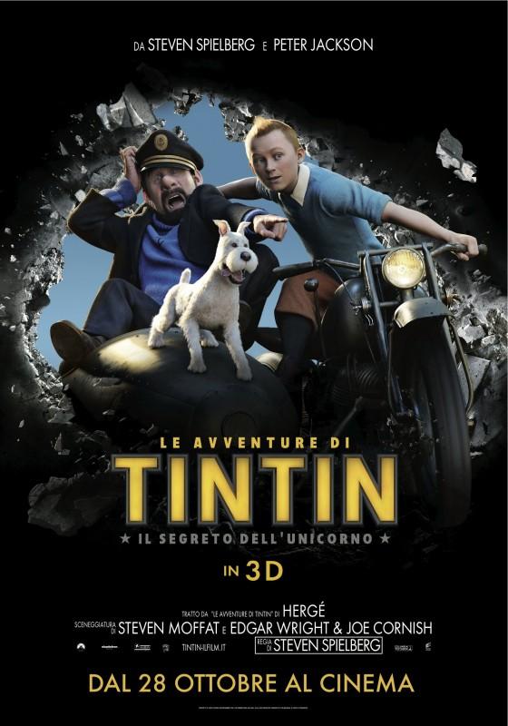 Le avventure di Tintin: il segreto dell'unicorno - locandina italiana