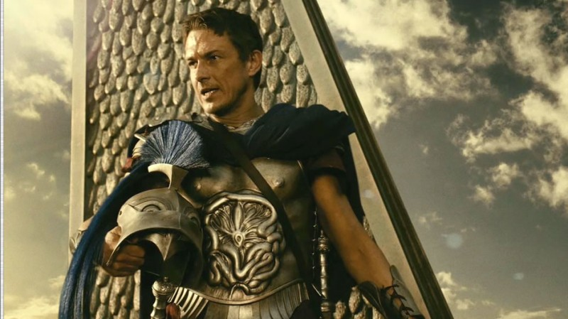 Luke Evans è Zeus in una scena del film epico Immortals 3D