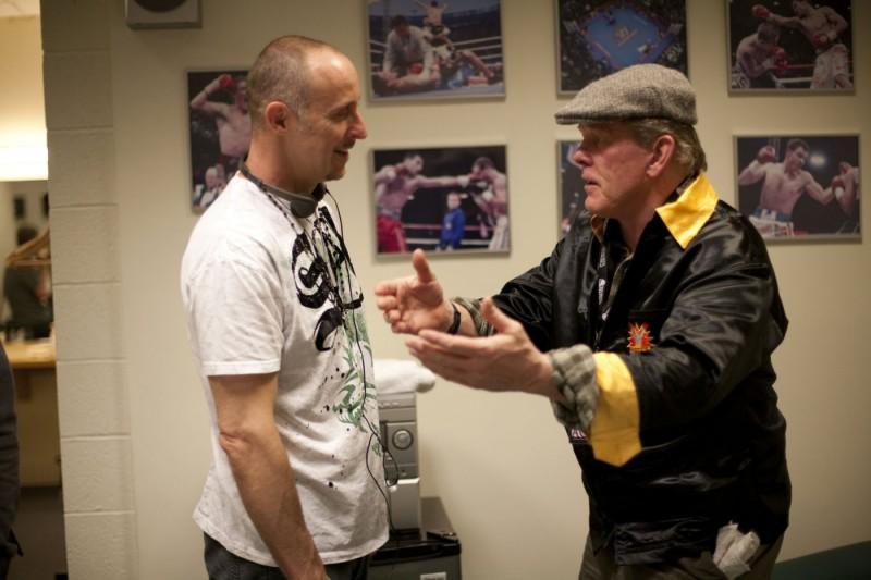 Nick Nolte e Gavin O'Connor sul set di Warrior
