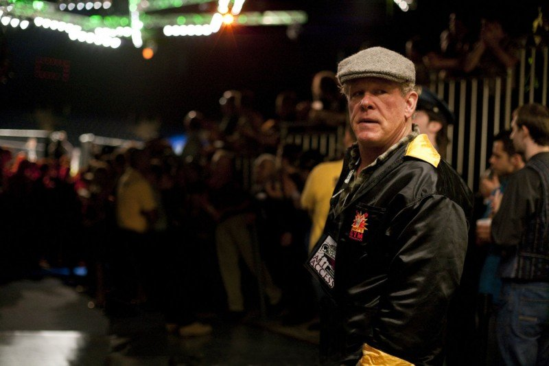 Nick Nolte in una scena di Warrior, il film di Gavin O'Connor