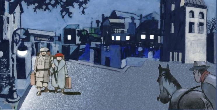 Una scena del film Tormenti - Film disegnato, diretto da Filiberto Scarpelli e disegnato da Furio Scarpelli