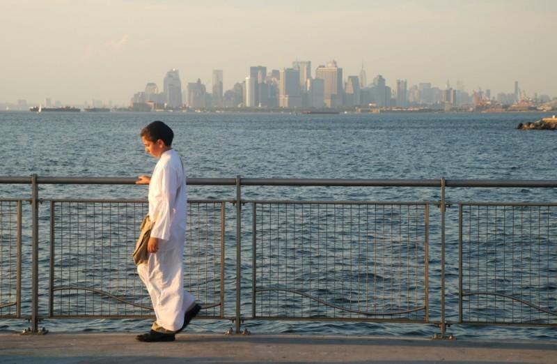 David: il giovane protagonista Muatasem Mishal in un'immagine panoramica del film