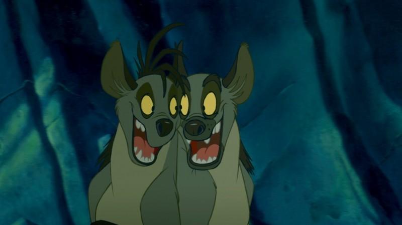 Il re leone 3D, Shenzi e Ed in una scena del film