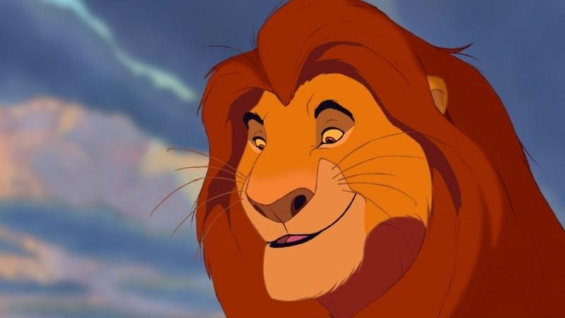 L'imponente Mufasa in una scena de Il re leone 3D