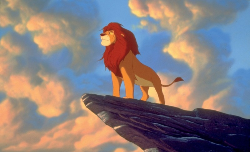 Mufasa, in una scena del film Il re leone 3D