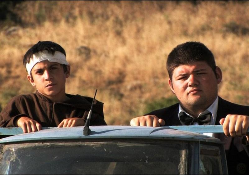 Sagràscia: Giuseppe Mezzettieri e Daniele Marrosu in una scena del film