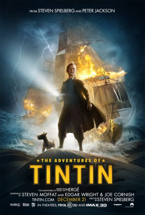 The Adventures of Tintin: The Secret of the Unicorn: nuovo poster USA