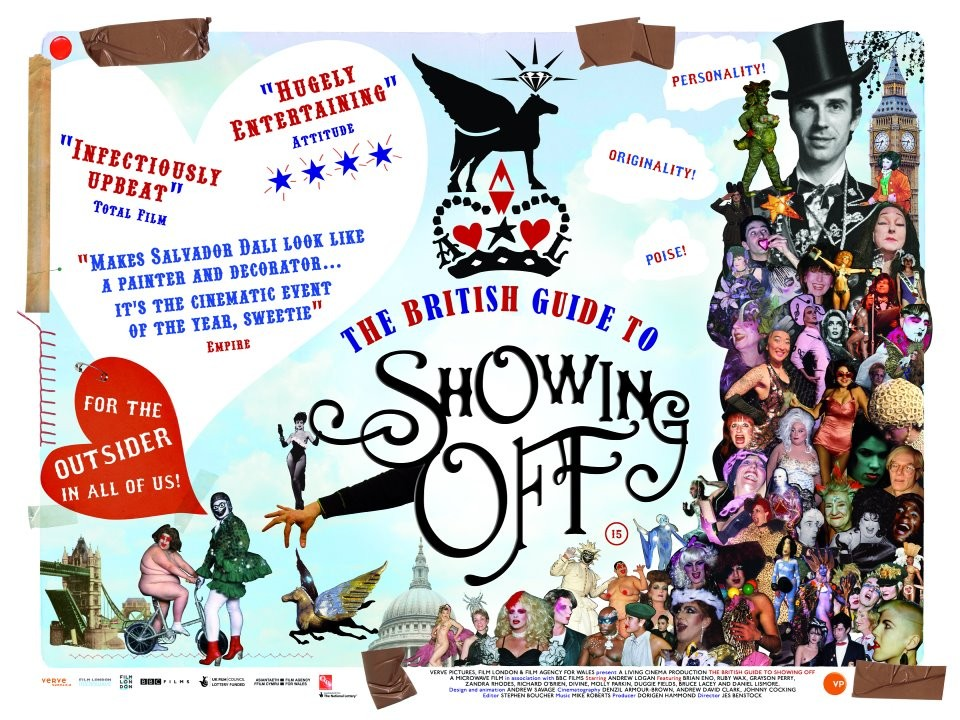 The british guide to showing off, un poster del film