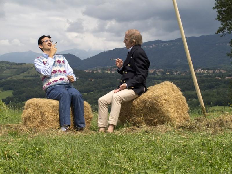 Fabrizio Biggio e Francesco Mandelli in una scena tratta dal film I soliti idioti
