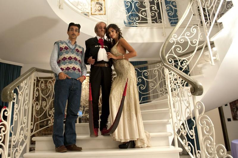 Fabrizio Biggio, Francesco Mandelli e Madalina Ghenea in una foto promozionale de I soliti idioti