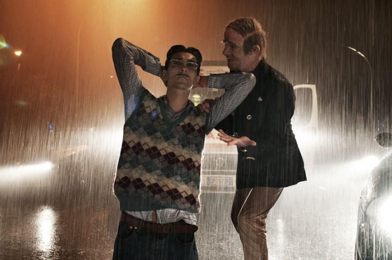 Francesco Mandelli insieme a Fabrizio Biggio in una scena de I soliti idioti