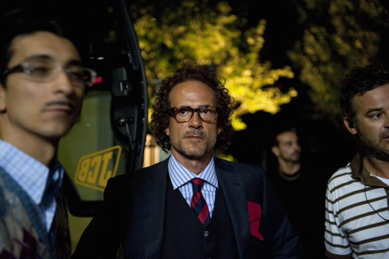Gianmarco Tognazzi sul set del film I soliti idioti